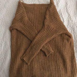 Sweaters - Orange, tan autumn sweater XL